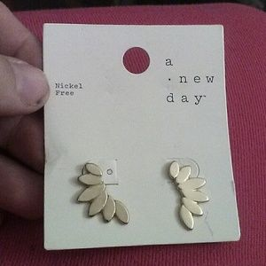 A new day Gold tone wing earrings